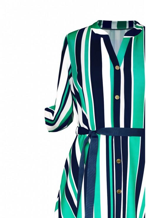bok sukienki zielonej