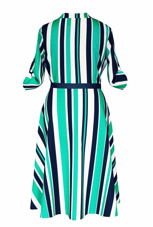tył sukienki zielonej