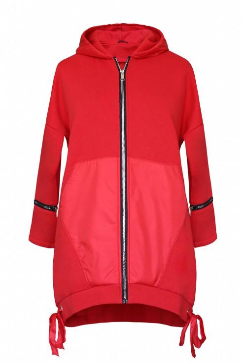 czerwona bluza xxl kieszonka