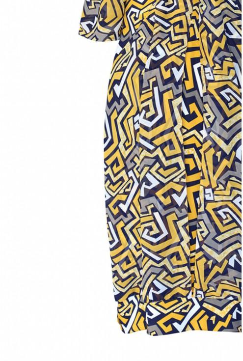 dół sukienki w geometryczne wzory
