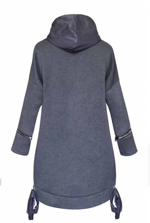 modna grafitowa bluza - tył