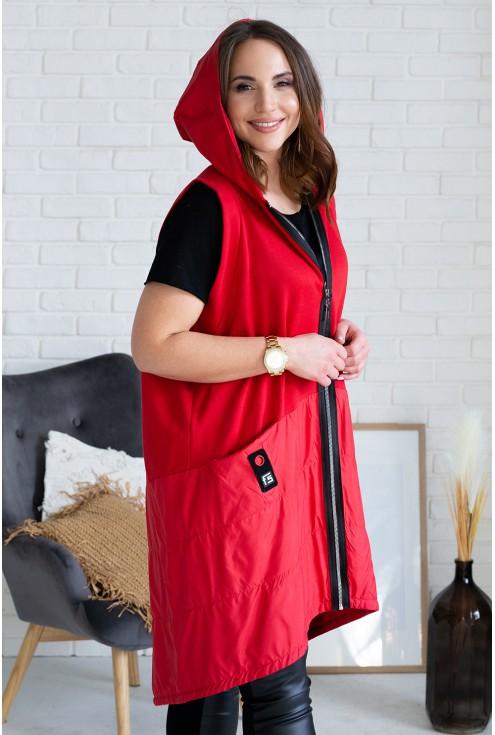 czerwona kamizelka dolly plus size