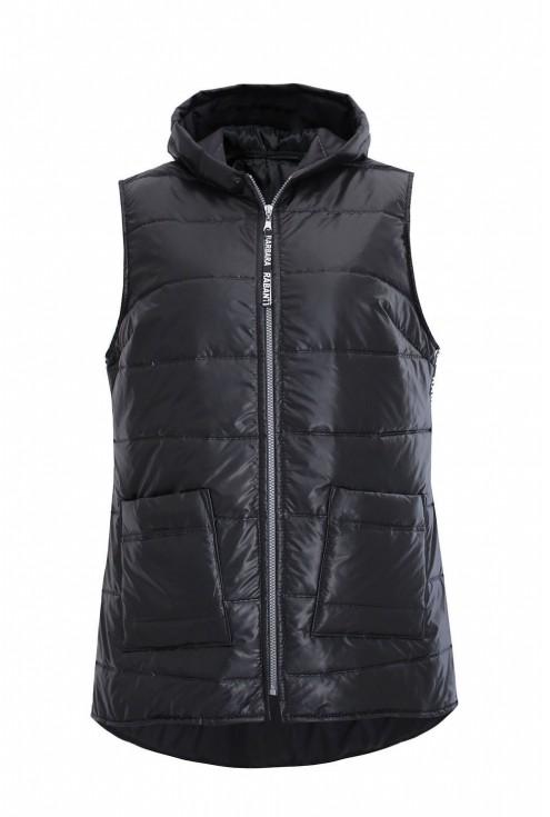 czarna modna kamizelka xxl