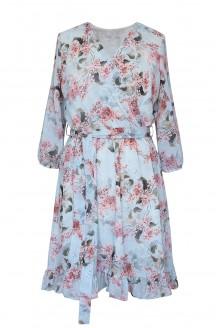 miętowa sukienka adelita kwiaty bzu