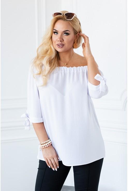 biała bluzka hiszpanka plus size xxl