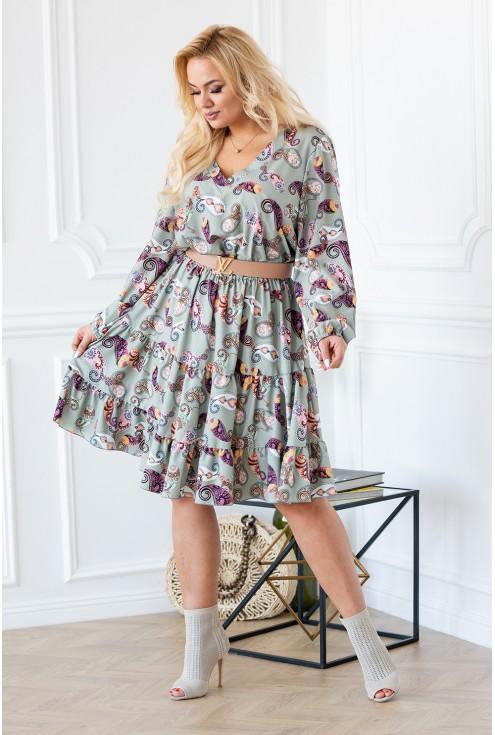 sukienka orientalna plus size w sklepie xl