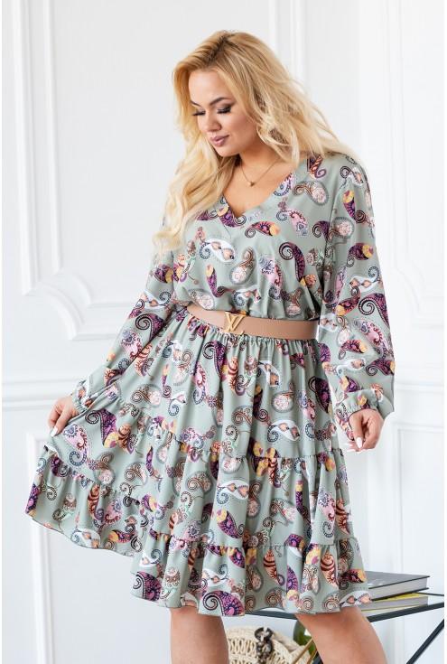 oliwkowa sukienka maneliss xxl