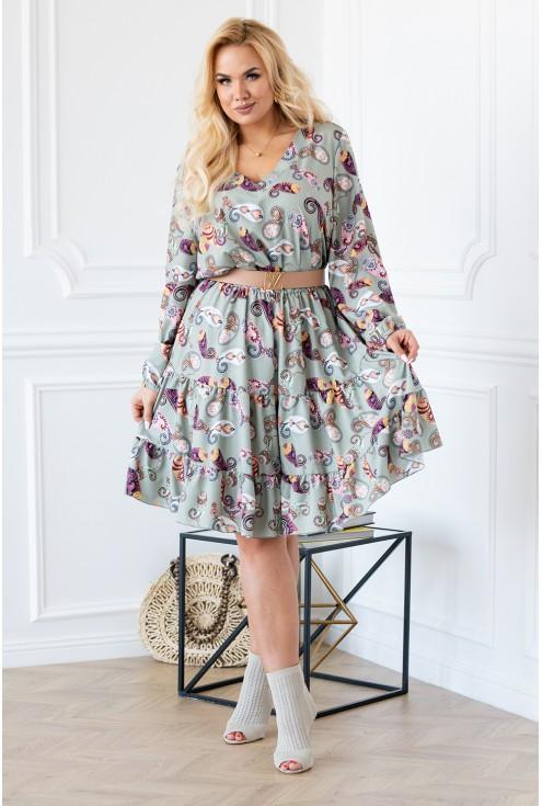 letnia orientalna sukienka xxl