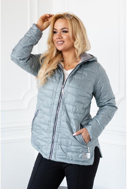 miętowa wiosenna kurtka w dużych rozmiarach damskich