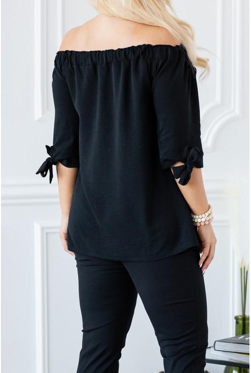Tył bluzki czarna hiszpanka NINA xxl