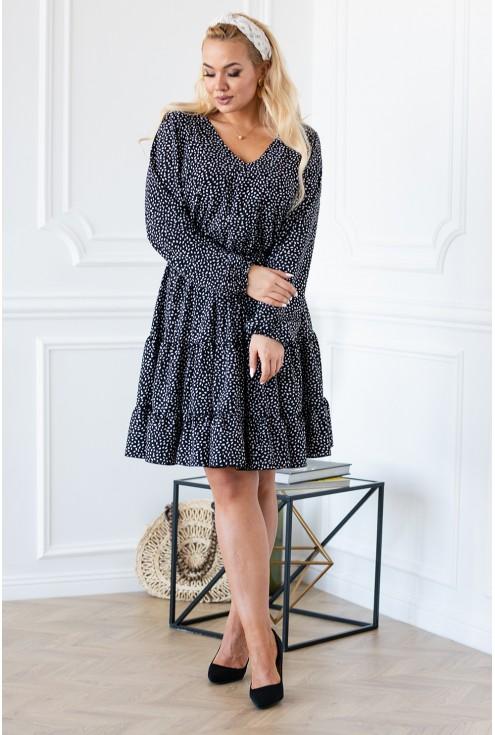 RYAN II sukienka plus size falbanki
