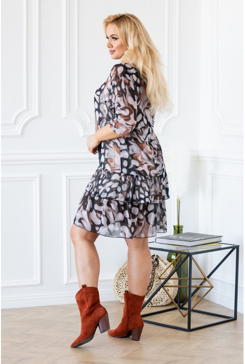 Tył sukienki NAOMI falbanki zwiewna idealna na lato