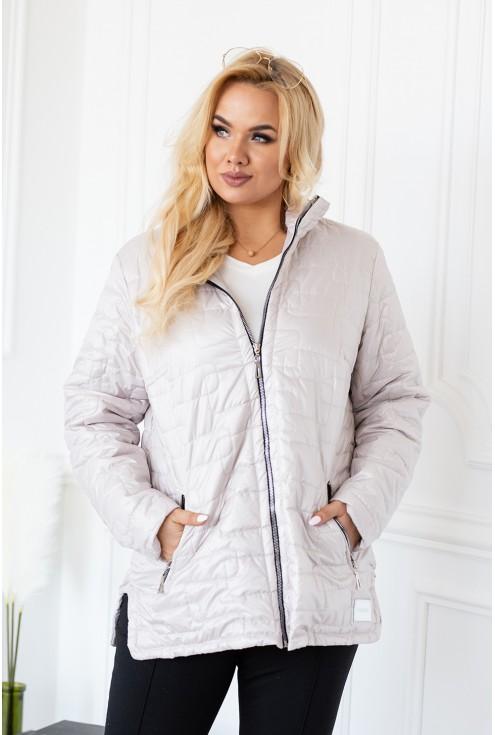 letnia kurtka przejściowa pikowana plus size