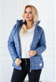 Jeansowa pikowana kurtka ze stójką - BRIDGET II
