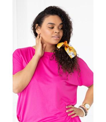 Różowa bluzka z wycięciem z tyłu - MONIQUE