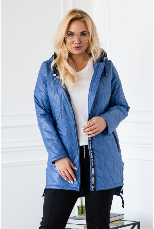 Niebieska dłuższa kurtka NOELLE