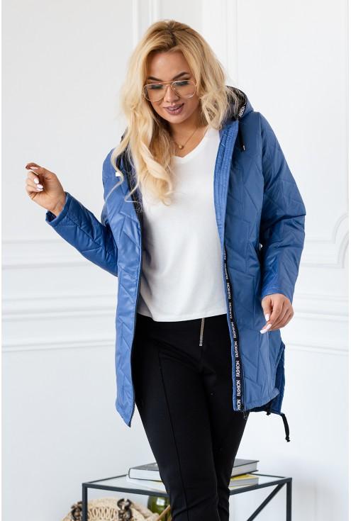 Niebieska kurtka dla Pań plus size xxl