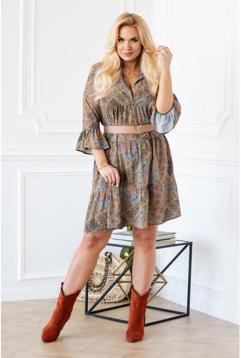 Sukienka z geometrycznym wzorem SABINE