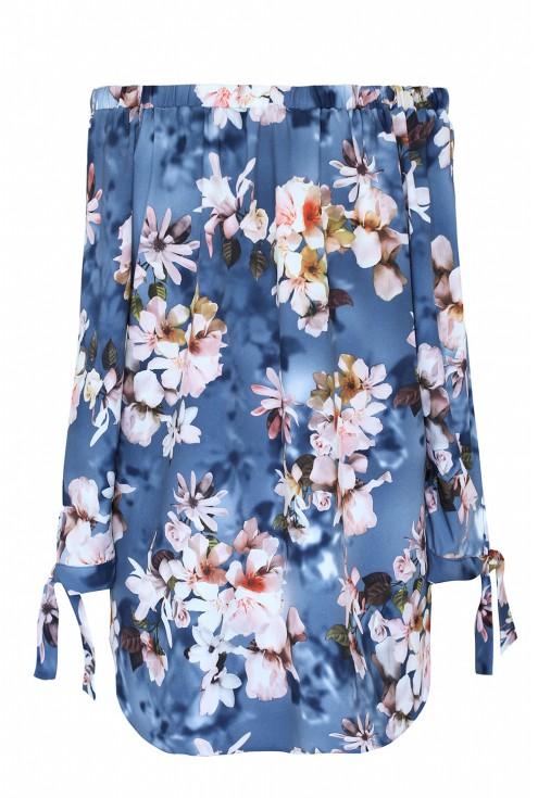 tył jeansowej bluzki maribel xxl hiszpanka kwiaty