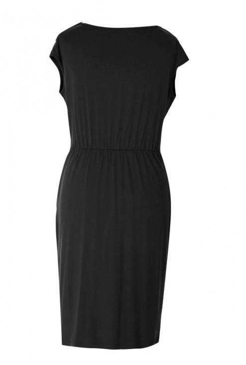 Czarna sukienka dzianinowa LUNA | DUŻE ROZMIARY