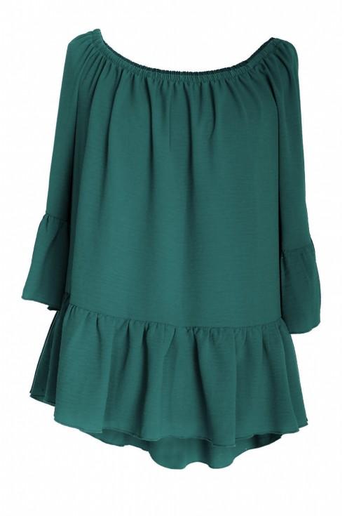 Zielona bluzka hiszpanka FIORELLE