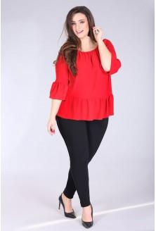 czerwona bluzka plus size
