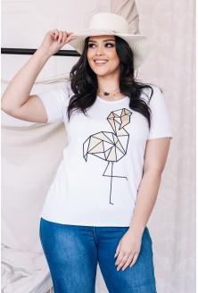 biały t-shirt plus size xxl