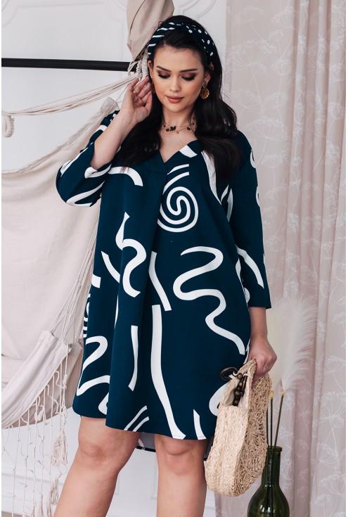 granatowa sukienka plus size xxl