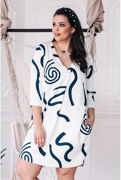biała sukienka chiara xxl