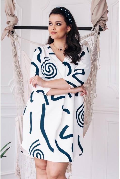 biała sukienka chiara plus size