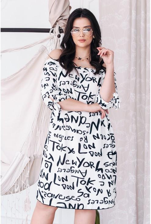 sukienka z napisami xxl