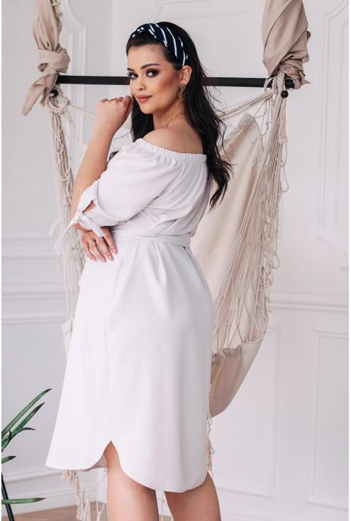 Bok sukienki ELENA wiązania przy rękawach dekolt hiszpanka xxl