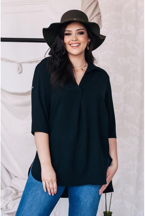 czarna gładka koszula plus size xxl