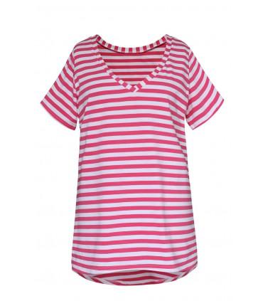 Bluzka w biało różowe paski - LUCA