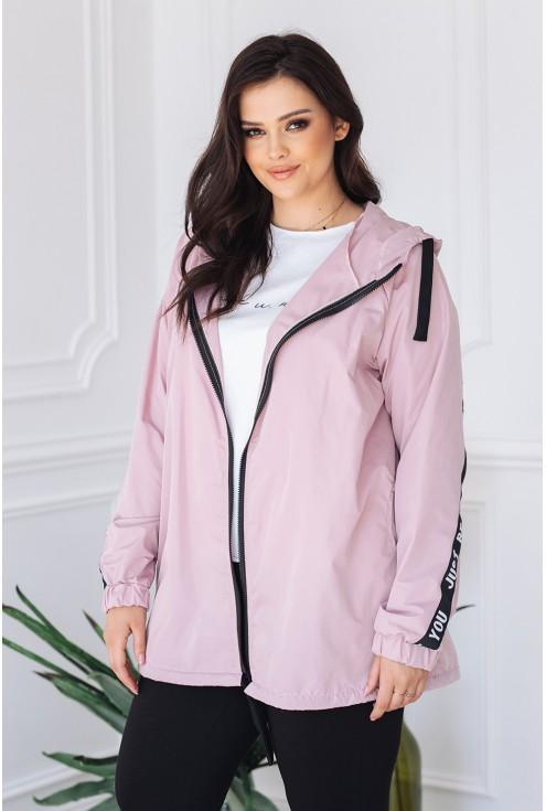 różowa kurtka z kapturem idealna na wiosnę xlka