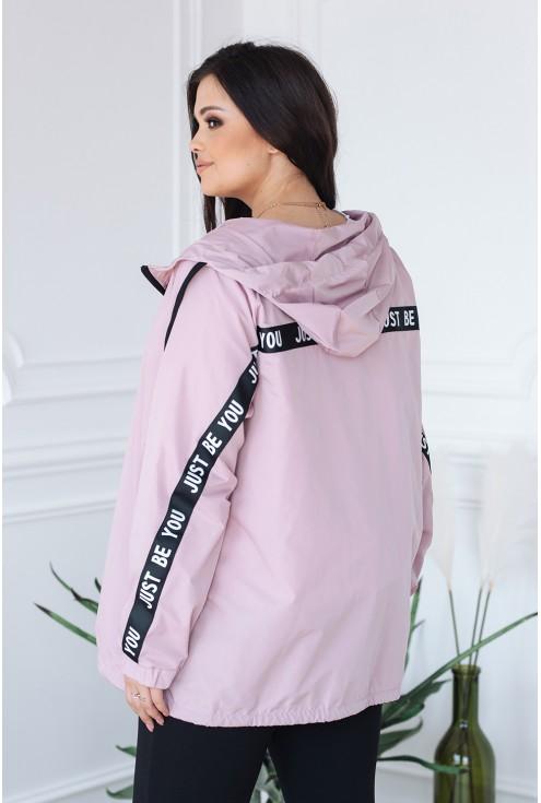 tył różowej kurtki xxl