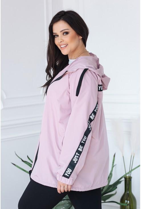 bok luźnej różowej kurtki xxl
