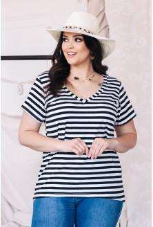bluzka w paski xlka styl marynarski