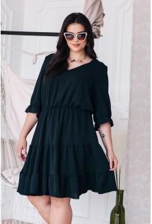 Czarna sukienka z falbankami plus size dla kobiet