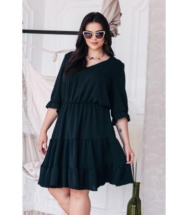 Czarna sukienka z falbanami - Matilde