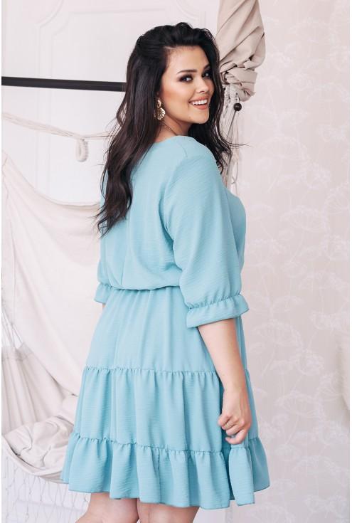 Tył sukienki miętowej xxl XL-ka.pl