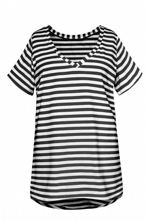 koszulka czarne paski xxl