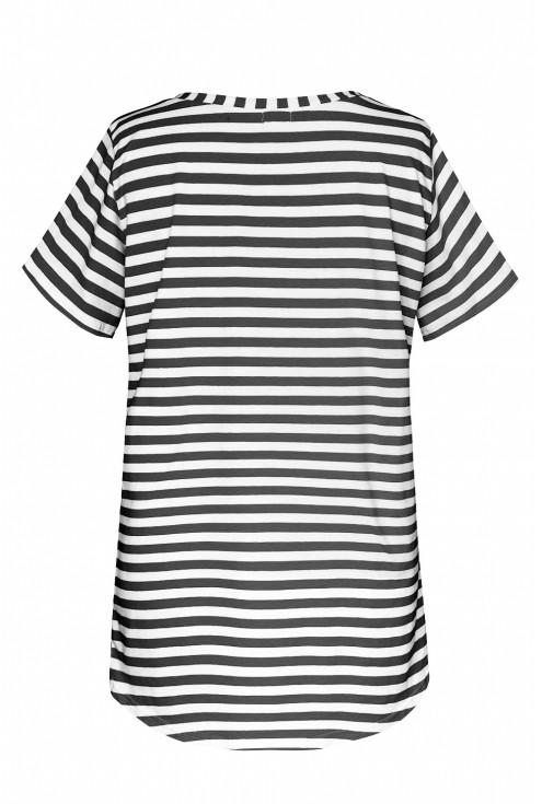 Bluzka w biało czarne paski - LUCA