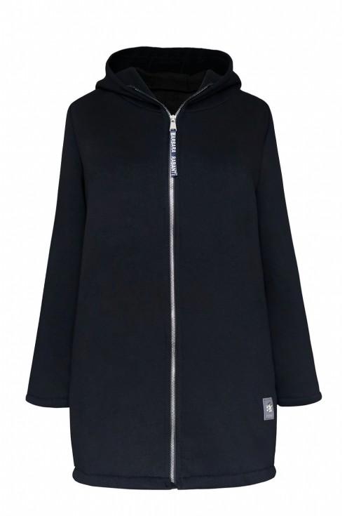 czarna ciepła bluza z napisem xxxl