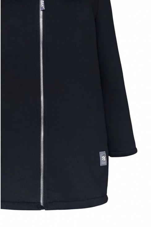 czarna ciepła bluza z napisem - duże rozmiary XL-ka.pl