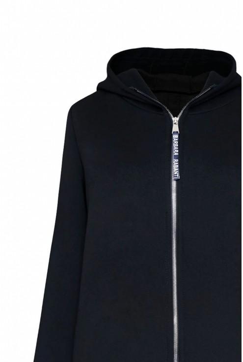 czarna ciepła bluza z kapturem xxxl