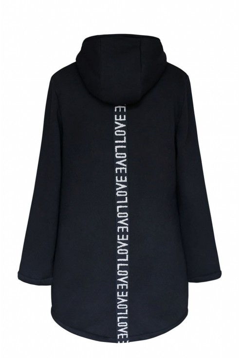 tył ciepłej bluzy z kapturem xxl