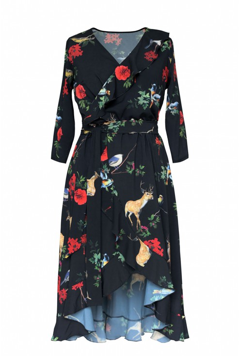sukienka w kwiaty i sarny liliane