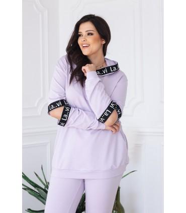 Zestaw w kolorze lila bluza + legginsy - SOPHIE