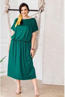Butelkowa sukienka 7/8 z kieszeniami - GRAND